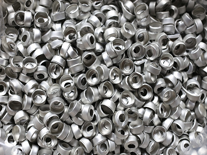 Aluminium scrap metal pile